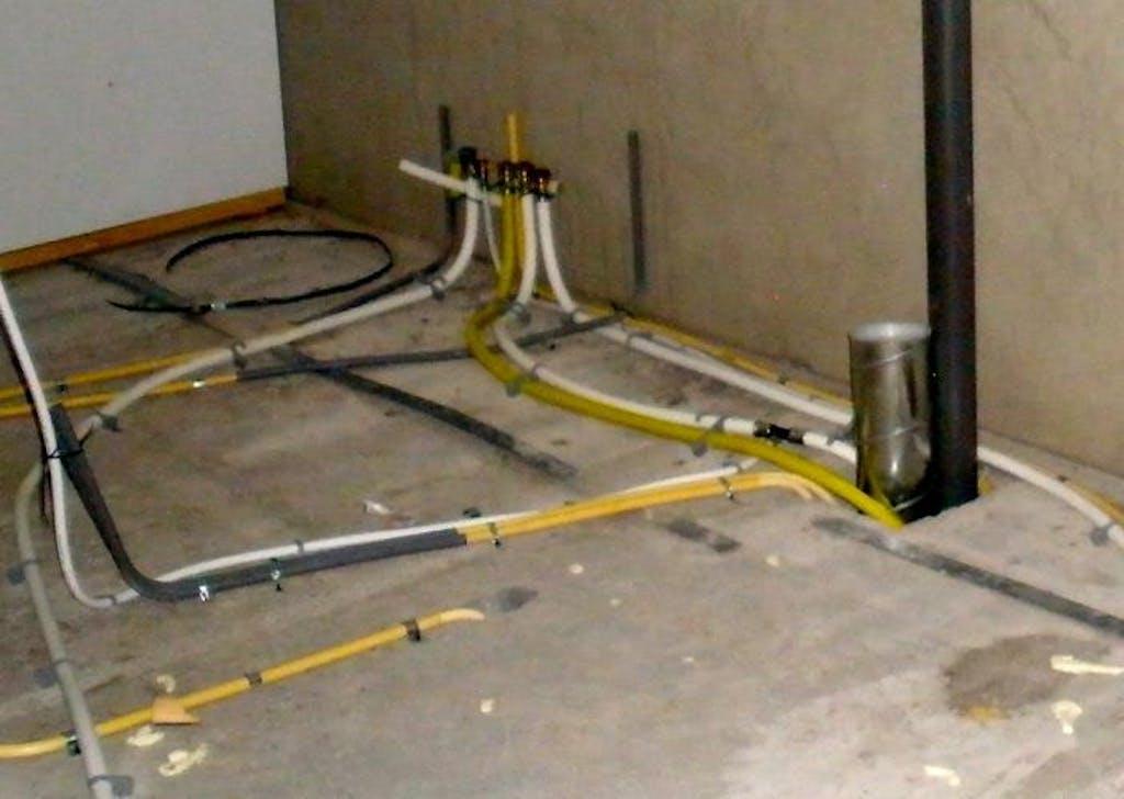 verleggen van gasleiding